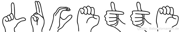 Lucette in Fingersprache für Gehörlose