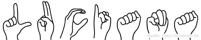 Luciana in Fingersprache für Gehörlose