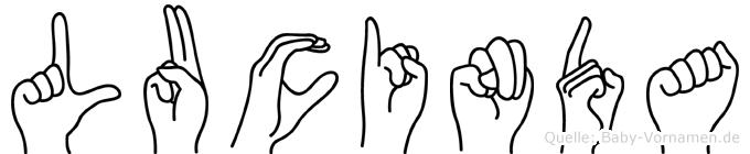 Lucinda in Fingersprache für Gehörlose