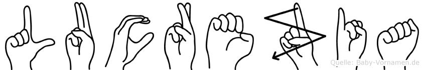 Lucrezia in Fingersprache für Gehörlose