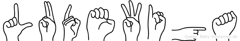 Ludewiga in Fingersprache für Gehörlose