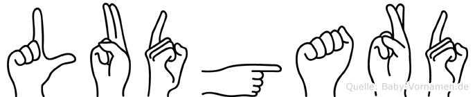 Ludgard im Fingeralphabet der Deutschen Gebärdensprache
