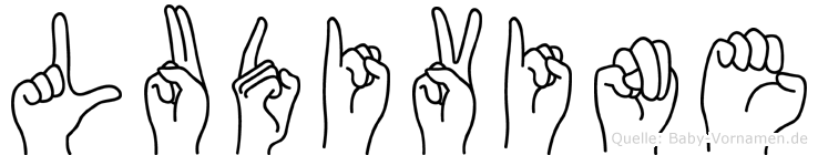 Ludivine im Fingeralphabet der Deutschen Gebärdensprache