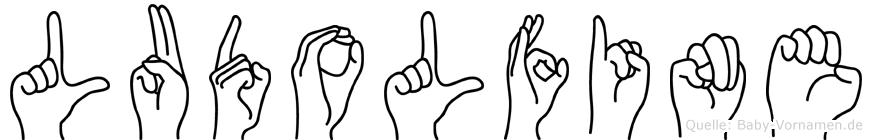 Ludolfine im Fingeralphabet der Deutschen Gebärdensprache