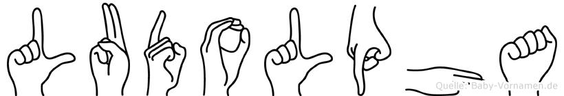 Ludolpha im Fingeralphabet der Deutschen Gebärdensprache