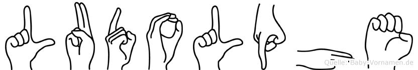 Ludolphe im Fingeralphabet der Deutschen Gebärdensprache