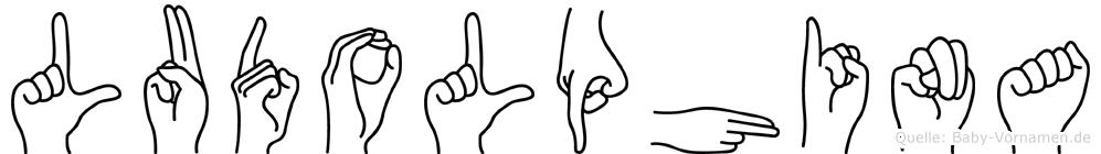Ludolphina im Fingeralphabet der Deutschen Gebärdensprache