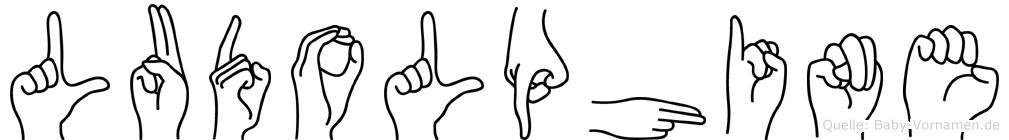 Ludolphine im Fingeralphabet der Deutschen Gebärdensprache