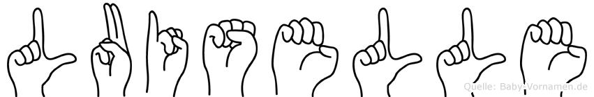 Luiselle im Fingeralphabet der Deutschen Gebärdensprache