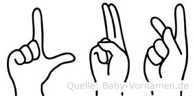 Luk in Fingersprache für Gehörlose