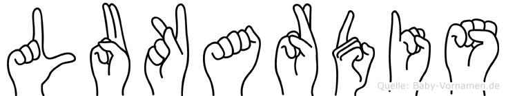 Lukardis in Fingersprache für Gehörlose