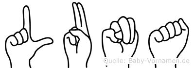 Luna in Fingersprache für Gehörlose