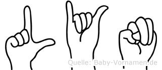 Lyn im Fingeralphabet der Deutschen Gebärdensprache