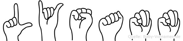 Lysann im Fingeralphabet der Deutschen Gebärdensprache