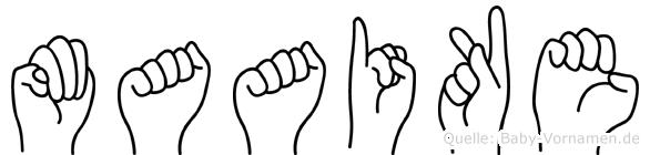 Maaike im Fingeralphabet der Deutschen Gebärdensprache