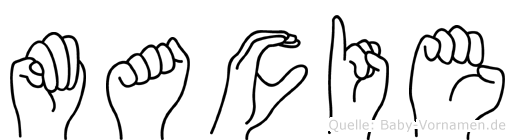 Macie im Fingeralphabet der Deutschen Gebärdensprache