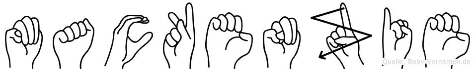 Mackenzie im Fingeralphabet der Deutschen Gebärdensprache