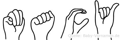 Macy in Fingersprache für Gehörlose
