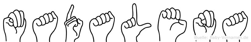 Madalena im Fingeralphabet der Deutschen Gebärdensprache