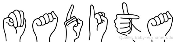 Madita im Fingeralphabet der Deutschen Gebärdensprache