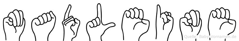 Madleine im Fingeralphabet der Deutschen Gebärdensprache