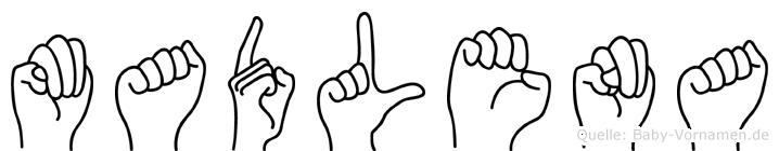 Madlena im Fingeralphabet der Deutschen Gebärdensprache