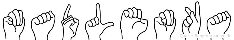 Madlenka in Fingersprache für Gehörlose