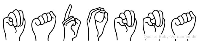 Madonna in Fingersprache für Gehörlose