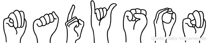 Madyson im Fingeralphabet der Deutschen Gebärdensprache