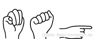 Mag in Fingersprache für Gehörlose
