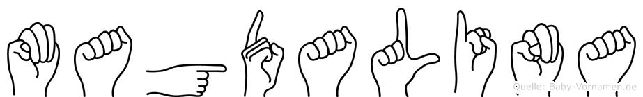 Magdalina in Fingersprache für Gehörlose