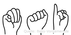 Mai in Fingersprache für Gehörlose