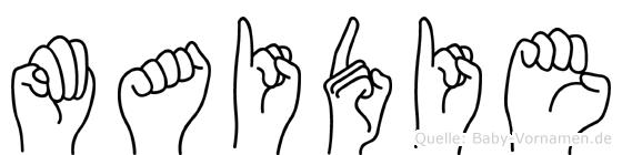 Maidie in Fingersprache für Gehörlose
