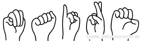 Maire in Fingersprache für Gehörlose