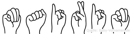 Mairin im Fingeralphabet der Deutschen Gebärdensprache