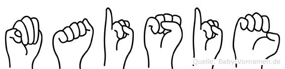 Maisie im Fingeralphabet der Deutschen Gebärdensprache