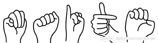 Maite in Fingersprache für Gehörlose