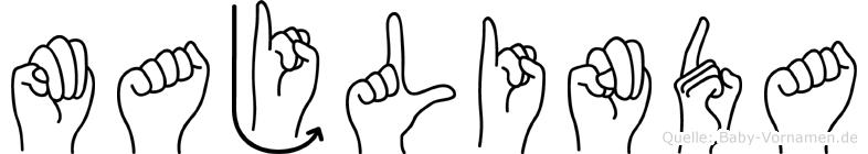Majlinda in Fingersprache für Gehörlose