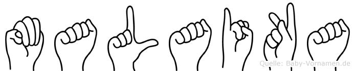 Malaika im Fingeralphabet der Deutschen Gebärdensprache