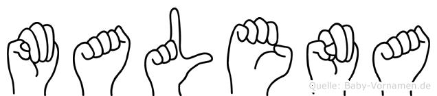 Malena in Fingersprache für Gehörlose