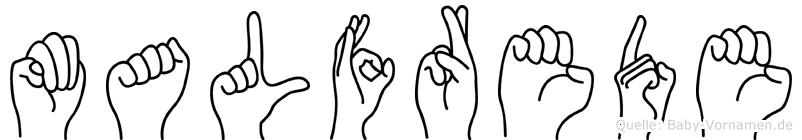 Malfrede in Fingersprache für Gehörlose