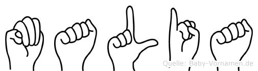 Malia in Fingersprache für Gehörlose