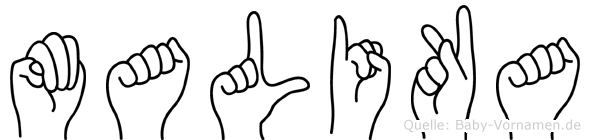 Malika im Fingeralphabet der Deutschen Gebärdensprache
