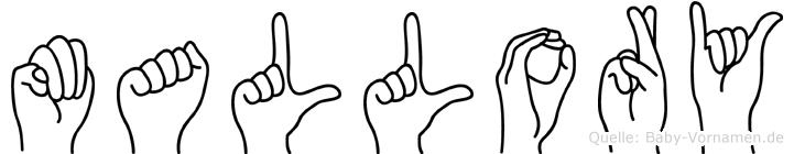 Mallory in Fingersprache für Gehörlose