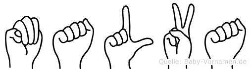 Malva in Fingersprache für Gehörlose