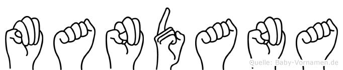 Mandana in Fingersprache für Gehörlose