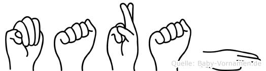 Marah in Fingersprache für Gehörlose