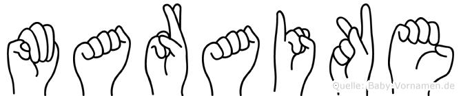 Maraike im Fingeralphabet der Deutschen Gebärdensprache