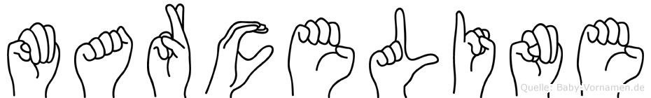 Marceline in Fingersprache für Gehörlose