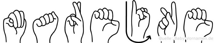 Marejke im Fingeralphabet der Deutschen Gebärdensprache